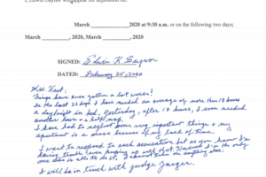 A Feb. 25 letter from accused sexual abuser Edwin Gaynor to the law offices of Lowey Dannenberg, P.C. highlights Gaynor's reluctance to take part in a March deposition.