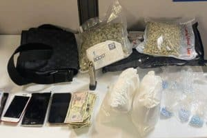 Police seize 2 kilos of coke, 22 pounds of weed